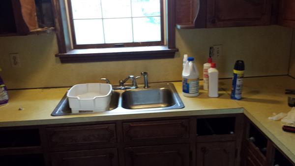 Rental Property Kitchen Before