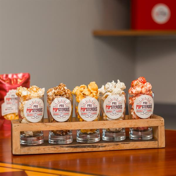 A PrePOPsterous flight of gourmet popcorn