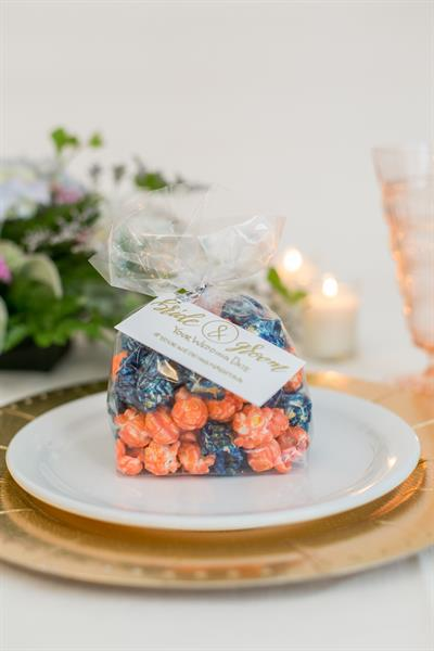 PrePOPsterous Gourmet Popcorn wedding favor