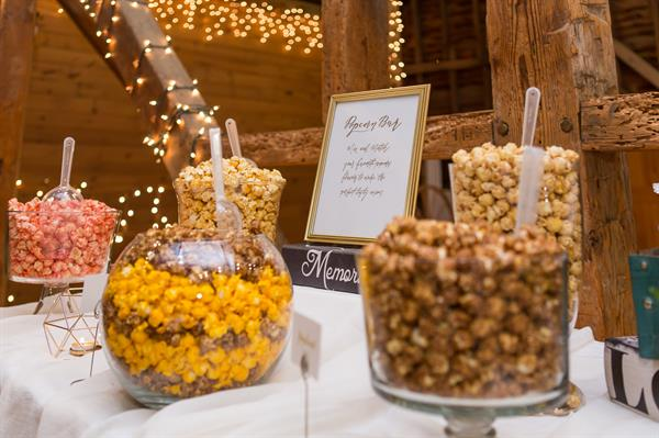 Gourmet Popcorn Bar for wedding