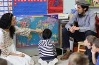 Kindergartners Learn About Classmate's Food and Culture