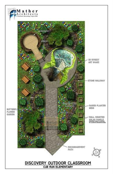 Cub Run Elementary Discovery Outdoor Classroom Render