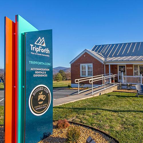 TripForth office located at 11530 Model Rd, Elkton, VA.