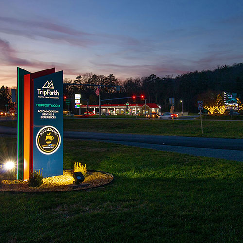 TripForth is located across Route 33 from the entrance to Massanutten Resort.