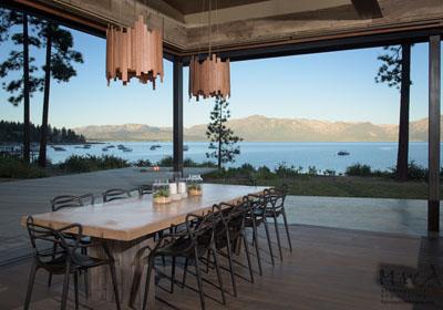 Lake Tahoe home dining room