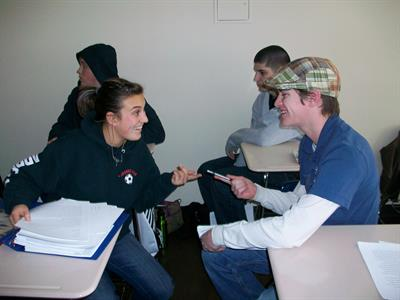 Conversation is a big part of the learning experience at Sierra College