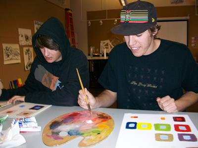 Painting, design and ceramics are a few of the art classes offered on campus