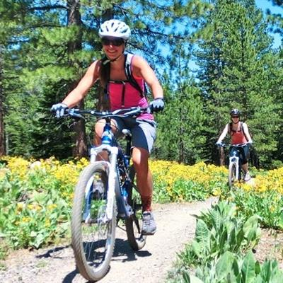 Tahoe Sports Hub is home to Cyclepaths bike-shop and Tahoe Mountain Guides