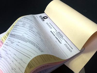 In-house NCR forms printing