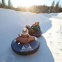 Friday Night Snow Tubing at Tahoe Donner Snowplay