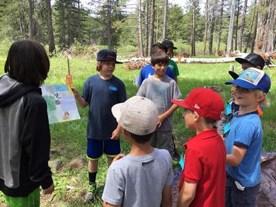 Outdoor education program at Sagehen field station.