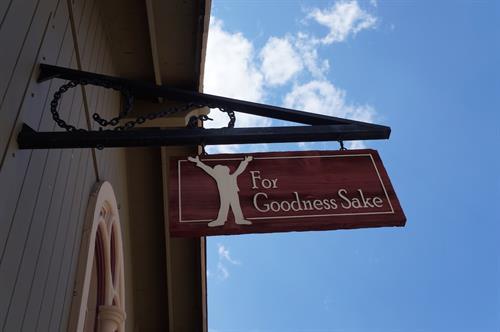 For Goodness Sake Sign