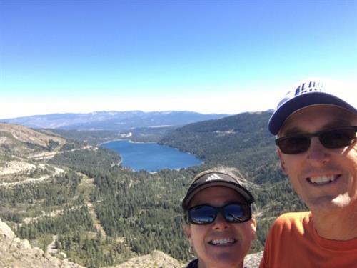 Donner Lake with Kara