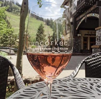 Take in the views on the patio at Uncorked Squaw
