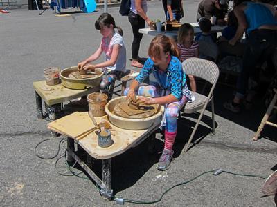 Truckee Roundhouse Ceramics demo