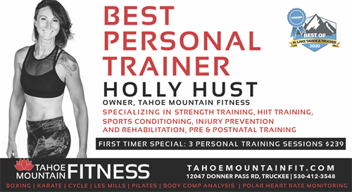 TRAIN WITH THE BEST PERSONAL TRAINERS IN THE TRUCKEE/TAHOE REGION