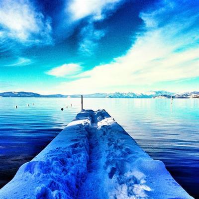 Snowy Tahoe Pier