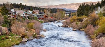 Truckee River Evening - Nature's beauty right in Downtown Truckee