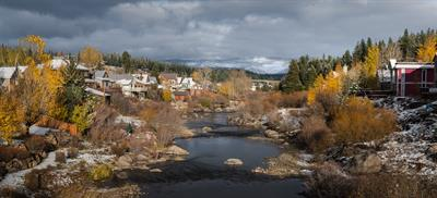First Snow-Truckee River