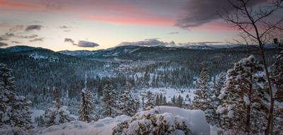 Thanksgiving Storm - Sugar Bowl and Donner Pass from Ponderosa Palisades