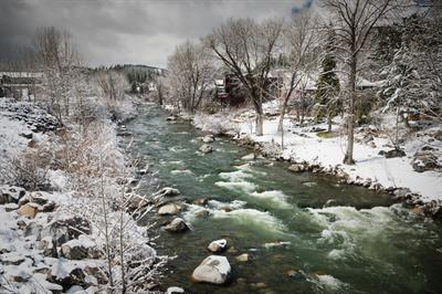 Truckee River - Winter Storm - Downtown Truckee