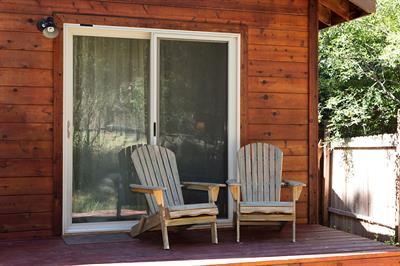 Back deck off of master bedroom gives you access to the backyard gas grill. Deck chairs in the spring, summer & fall.