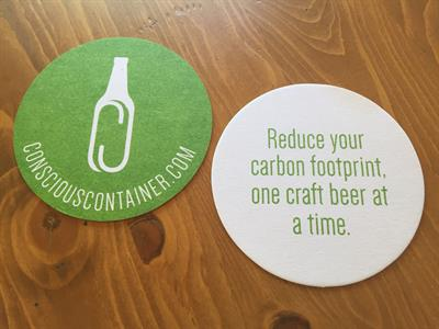 Reduce your carbon footprint one craft beer at a time!!!  Newest swag for your craft beer...