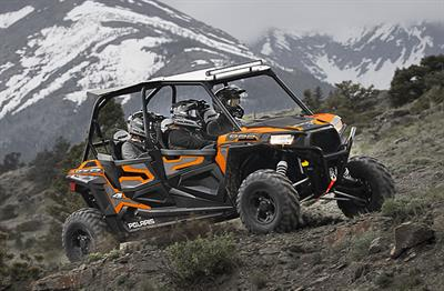 Polaris RZR side by sides. 2 and 4 seater models