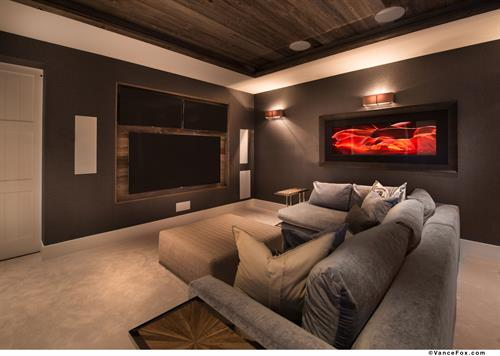 Mountain Transitional Media Room