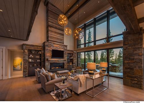 Award-Winning Martis Camp Lot 670 Great Room