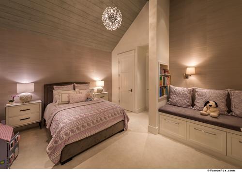 Elegant Mountain Transitional Lavender Girl's Bedroom