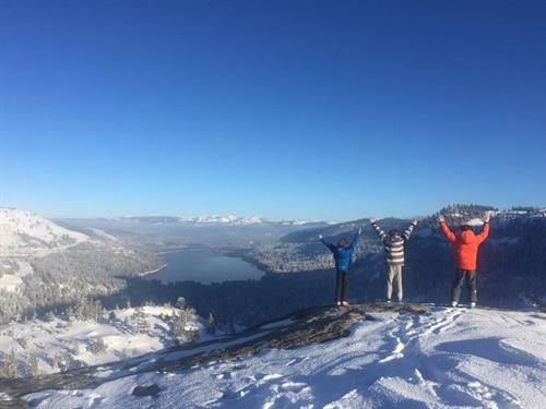 High above Donner Lake!  We love our Winters!