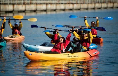 Kayaking in Bodega Bay