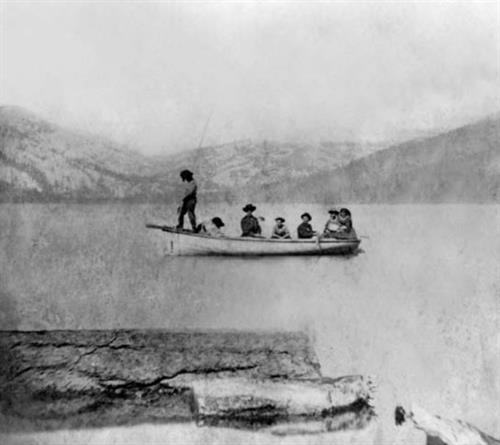 Trout spearing on Donner Lake