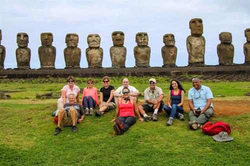 Standing tall in Rapa Nui