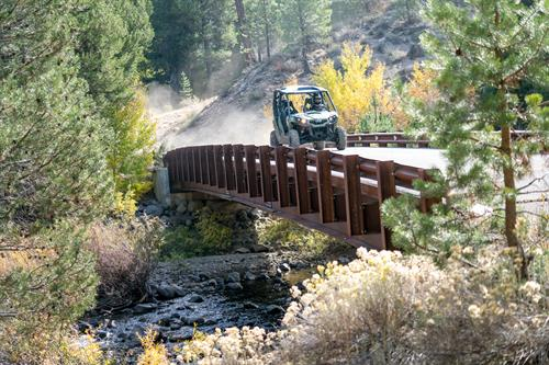 Drivers will get to feel the speed and control of these vehicles as they cover open trail, loose gravel, small hills, creek crossings and more.