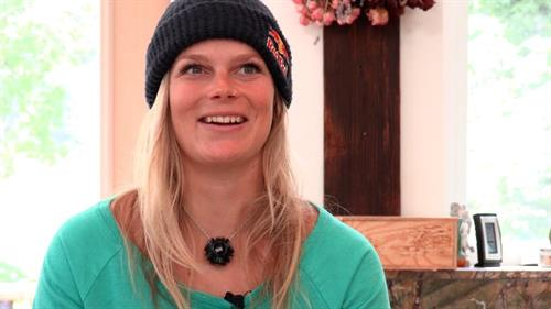 Angel Collinson, Professional Big Mountain Skier, advocates for Citizens' Climate Lobby.