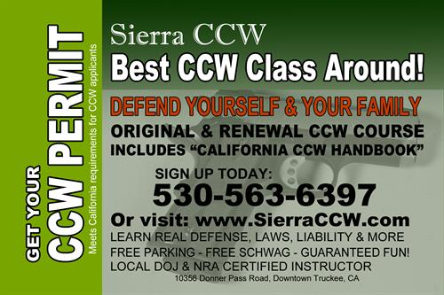 Sierra CCW will help you obtain your permit to carry a firearm for self-defense.