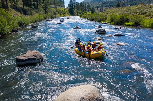 Camp Donner Summit rafting the Truckee