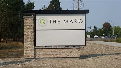 Lighted Cabinet Monument Sign - Marq on Martin