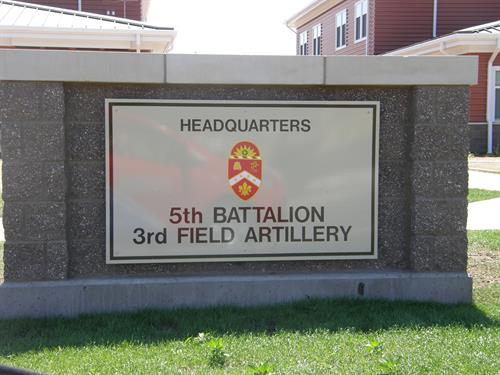 Military Monument Sign