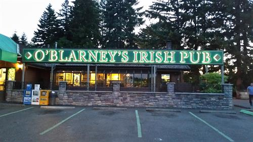 Halo Lighted Sign - O'Blarney's