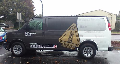 WAANG Vehicle Graphics with Perforated film