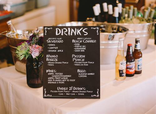 Wedding Signage Beverage
