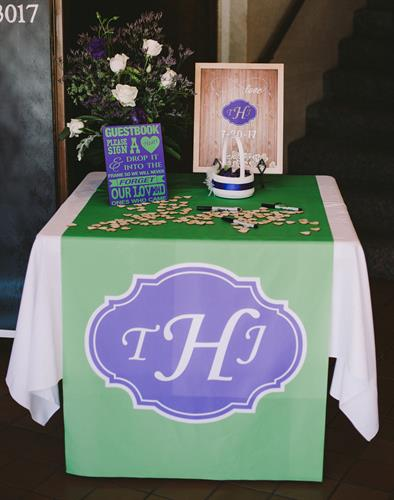 Wedding Signage and Table Runner