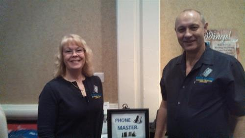 Cliff and TerriAnn at a business expo