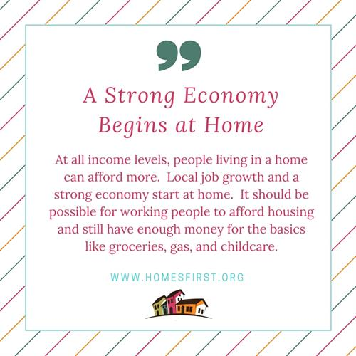 A Strong Economy Begins at Home
