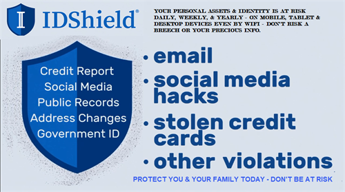Many aspects of our Digitally Distracted world need protection - ID Shield is an effective resource to protect you!