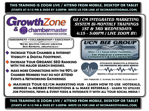 """We perform direct GrowthZone / ChamberMaster monthly coaching - BUILD YOUR PROFILE TO RANK AT GOOGLE WITH US!"""