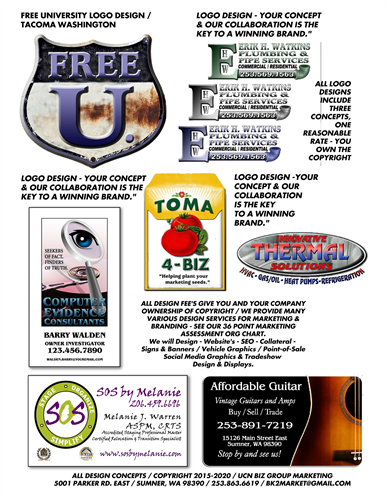 Conceptual Logo Design, Print, Web & Marketing
